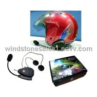 Bluetooth Intercom Helmet Headset for Motorcycle