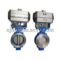 Pneumatic Double Eccentric Butterfly Valve