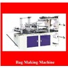 High speed double lines heat-sealing and cold-cutting bag-making machine