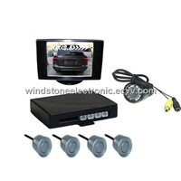 Video parking sensor system/ Car rearview monitor with parking sensor--RD835SC4
