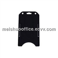Open Face Vertical Single Card Rigid Badge Holders