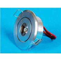 1*1W LED downlight
