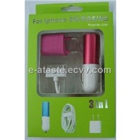 3 in 1 Charger Kit for iPhone (3GS/3G/4G(EAT-028))