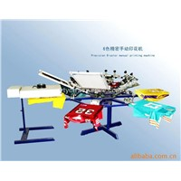 6-color 6-station manual precision T shirt screen printing machine
