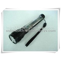 Aluminum Alloy Electroplating Solar Flashlight-STH001