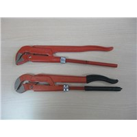 Bent Nose Pipe Wrench/plier with dipped handle