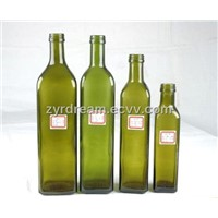 Dark Green Olive Oil Glass Bottle