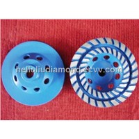 Double line turbo concrete grinding wheel