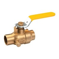 Full port ball valve with drain