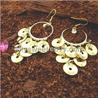 Gold Drop Crystal Earring(SWTER092)