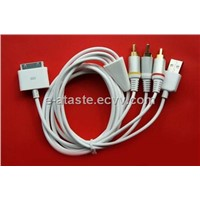 Golden AV Cable for iPhone 4/3GS/3G (EAT-034)