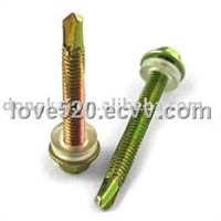 Hex Flange Head Self-Drilling Screw in Yellow Zinc Plating