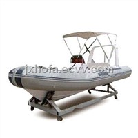 Inflatable Boat Cover with 12 Straps, Made of 600D PVC