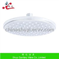 Plastic overhead shower head