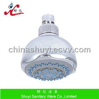 Plastic overhead shower with 3 function