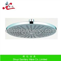 Plastic overhead shower with 9 inch