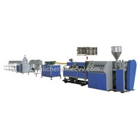 Prestressed plastic corrugated pipe production line (flat pipe)