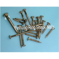 "Silicon bronze annular boat nails of 15g x 1/2""  to 6g x4"""