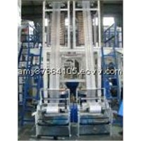 Single Screw Extruder Double Die Head Film Plastic Extruder / Blow Molding Machine