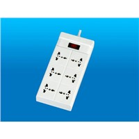 Socket with surge protector
