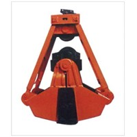 Twin sling twin valves grab bucket