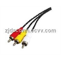 USB A MALE-3 RCA Cable