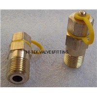 brass pete's plug,self-closing valve