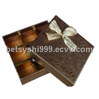 brown candy chocolate boxes
