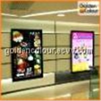 colourful advertisment backlit film