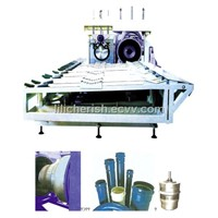 hard pipe expanding machine and mould