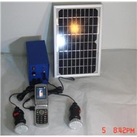 portable integrated solar power system for lighting and charger for Mobile phone/Mp3/Mp4/Camera