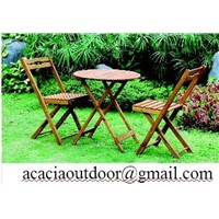 Acacia Garden table&chair