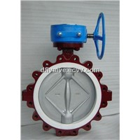 Lined PTFE Lug Wafer Type Butterfly Valve