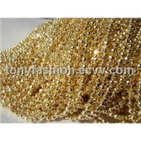 2.4mm Faceted Ball Chain Champagne Gold Color
