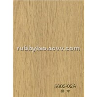 318-02T pvc wood grain film/Pvc wood veneer/engineered veneer