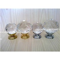 40MM 50MM CRYSTAL CABINET KNOBS ON BRASS BASE