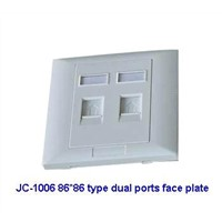 86x86 Type Face Plate