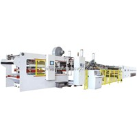 Automatic Flexo Printing Slotting Die-cutting Folder Gluer In-line
