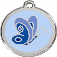 Blue Butterfly Dog Tag (DT-10)