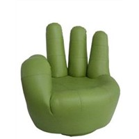 Hand-Shaped SZ-02 OK HAND chair  green color with swivel