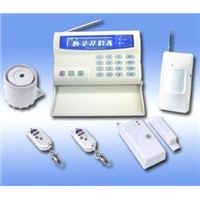Intelligent GSM Home Alarm System With LCD Color Display / Zone Alarm