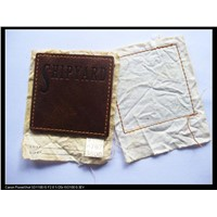 Leather patch for clothing