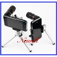 New 8X Zoom Telescope Lens iPhone 4G + Holder+Case