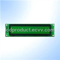 STN 16 x 1 Character LCD Module with Yellow-Green LED Backlight