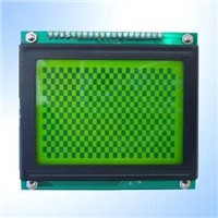 STN Yellow Green 128 x 64 Pixels Graphics LCD Module with LED Backlight
