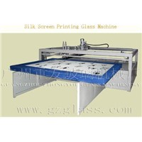Semi-automatic  screen  printing glass machine