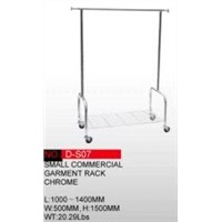 Small Commerical Garment Rack - Chrome