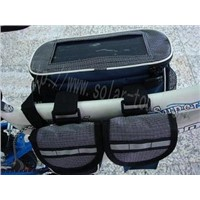 Solar Bicycle Across Bar Bag-STD004 (Black)