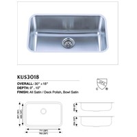 Stainless Steel Undermount Single Sink KUS3018
