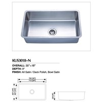 Stainless Steel Undermount Single Sink KUS3018-N